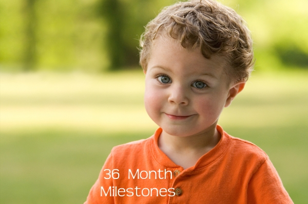 Milestones by the end of 36 months or 3 years for children