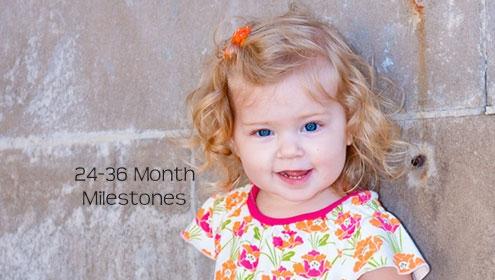 Developmental Milestones Skills for 24-36 Months, 2-3 years