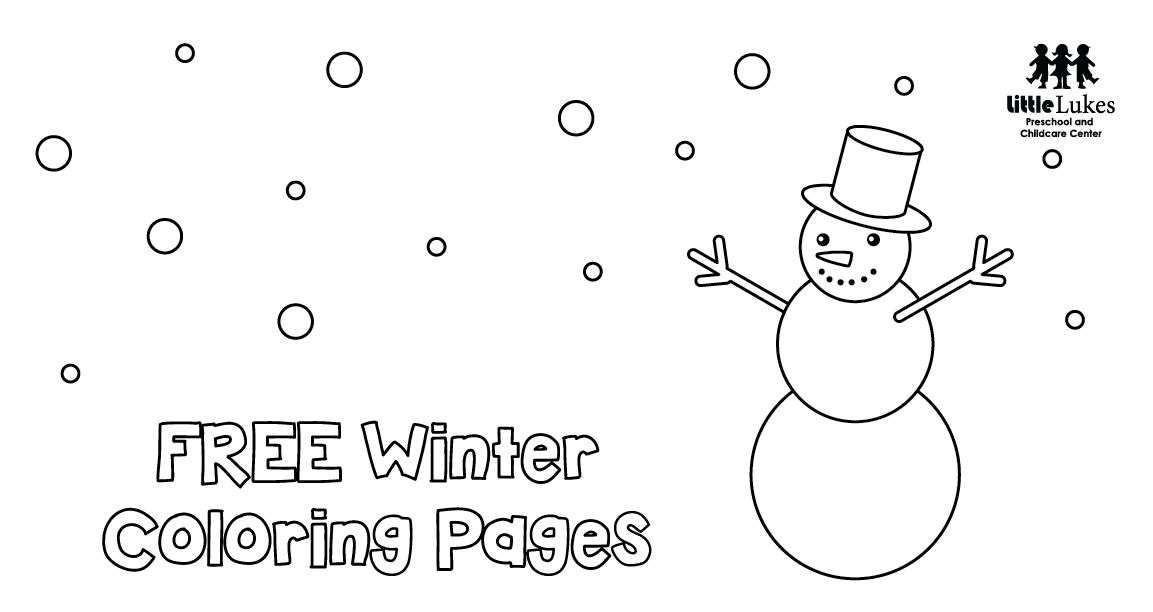 Free Winter Coloring Pages Little Lukes Preschool And Childcare Center