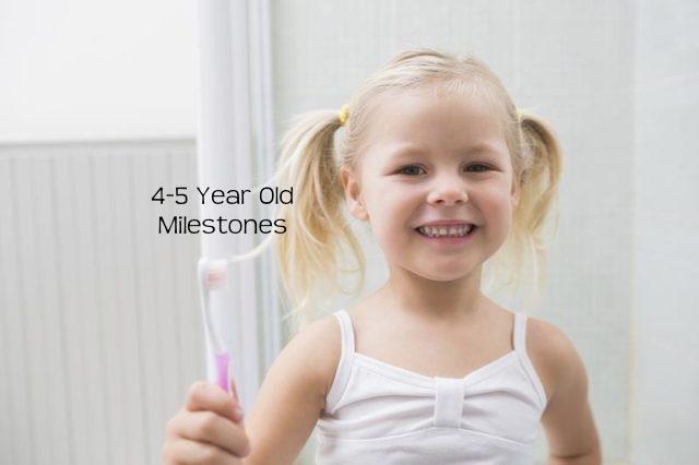 Developmental Skills for 4-5 Years - Milestones for preschool children.